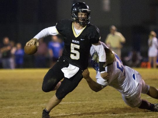 Wayne County quarter Preston Rice fired three touchdown passes in Friday's win.