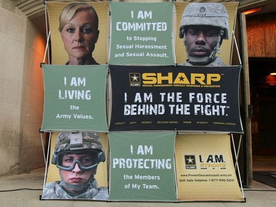 The U.S. Military Academy Noncommissioned Officers led a run at West Point in 2013 to reaffirm their commitment to preventing sexual harassment and sexual assault in support of the U.S. Army SHARP program.