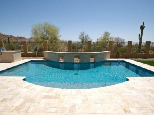 Acrylic lace coatings are a great slip-proof finish for your poolside deck.