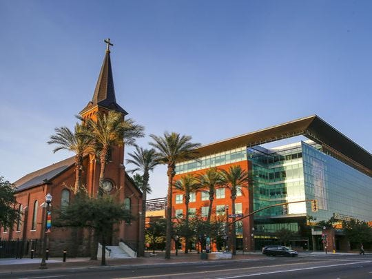 Tempe leaders said the All Saints Catholic Newman Center, home to Old St. Mary's Church at the northwest corner of University Drive and College Avenue, will not be able to expand into the business of high-rise student housing.