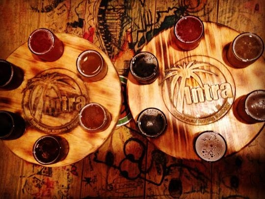 Choose a flight instead of a pint at Intracoastal Brewing