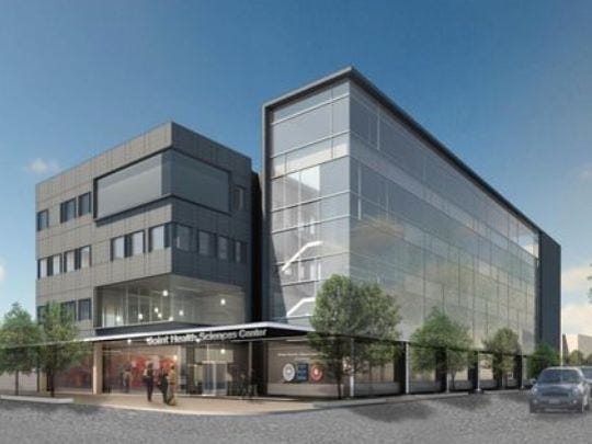 The Joint Health Sciences Center is to open in downtown Camden in 2018.