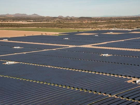 Solar energy in Arizona: The Sandstone Solar plant in Florence supplies power to the Salt River Project.