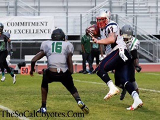 Jake Sheffield (#47). SoCal Coyotes win over LA Hilltoppers.