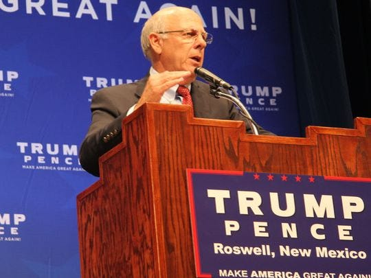 Speaking at the rally, Pearce said that while Trump was not his first, second or even third choice for the GOP ticket, he has been convinced that the nation needs a leader like Trump.