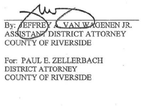 Court documents show a Riverside County wiretap application signed by a lower-level attorney on behalf of Paul Zellerbach.