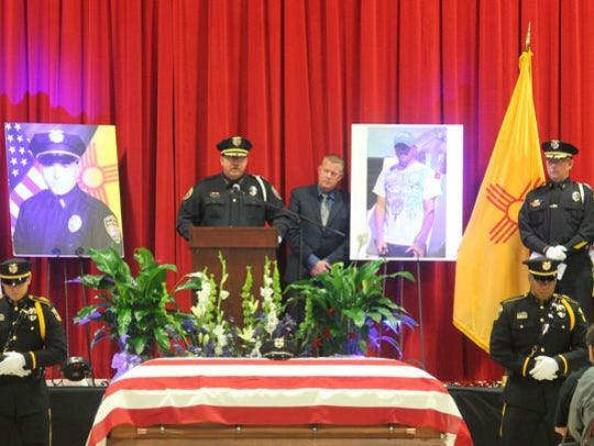 Alamogordo Police Chief Daron Syling gave one last