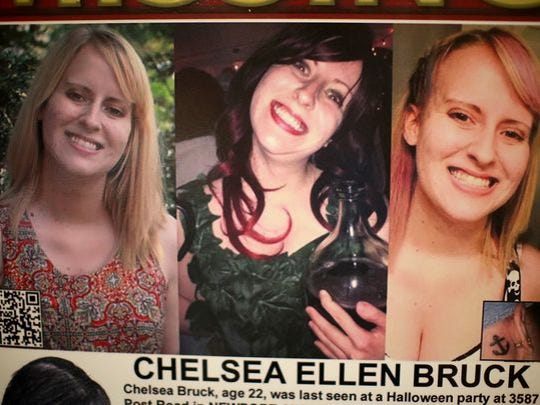 Chelsea Bruck went missing on Oct. 26, 2014 after last