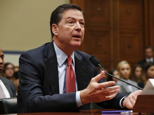 """FBI Director James Comey testifies Sept. 28, 2016, on Capitol Hill in Washington. Comey told lawmakers this week that the agency is looking """"very, very hard"""" at Russian hackers who may try to disrupt the U.S. election."""