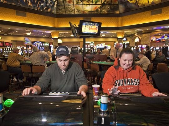 Casino-goers at Harrah's Ak-Chin Hotel & Casino