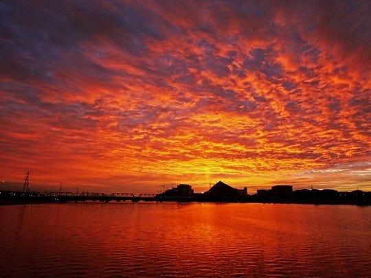 Sunrise at Tempe Town Lake.
