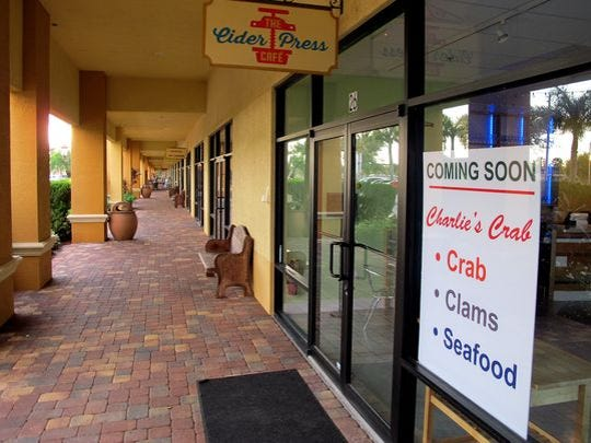 Charlie's Crab, Clams & Seafood is opening in the old Cider Press Cafe space in N. Naples.