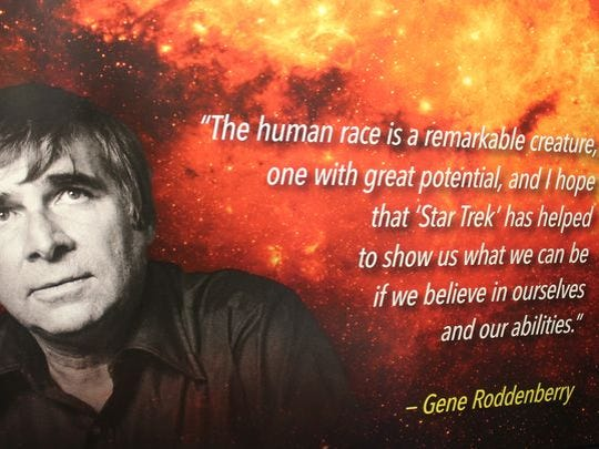 "The New Mexico Museum of Space History inducted Gene Roddenberry, creator of ""Star Trek,"" on Saturday evening."