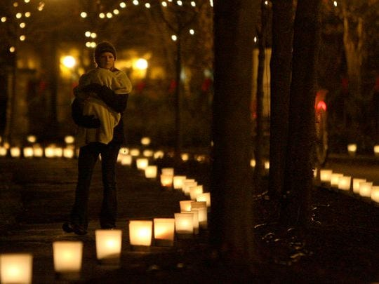 Minnetrista's Enchanted Luminaria Walk.