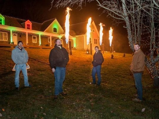 Wall Christmas Light Show organizers, from left, Mike Roberti, Brian Brateris, Trevor Ferguson and Dan Brateris.