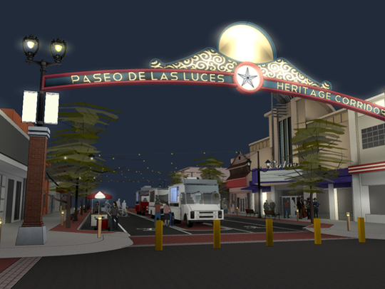 An artist's rendering of what the Paseo de las Luces