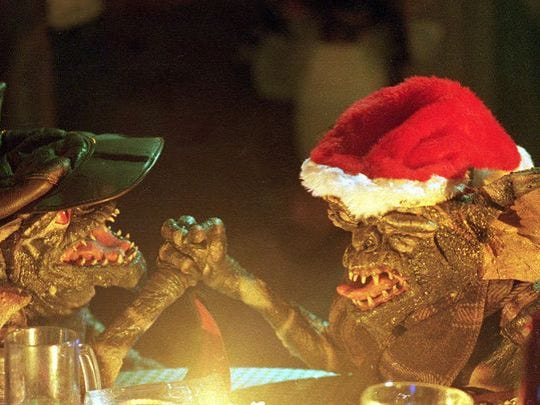 Crazy critters go nuts on Christmas in the 1984 horror comedy 'Gremlins.'