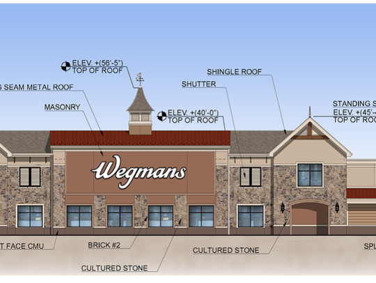 A proposed rendering of a Wegmans megastore in Harrison