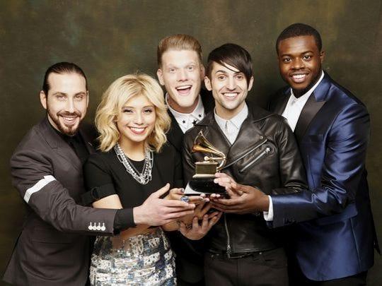 Pentatonix with their first Grammy Award.