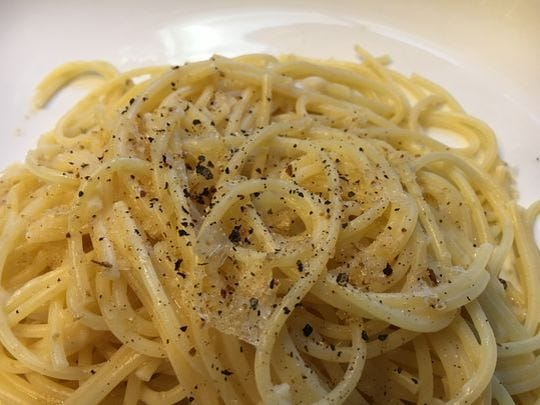 Pasta Cacio e Pepe from 'Food, Health and Happiness.'