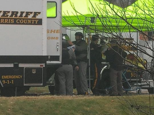 Emergency response during a death investigation Jan. 17, 2017 at Brentwood Gardens in Wharton.