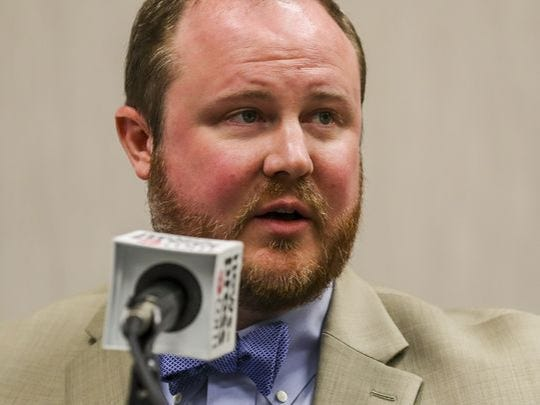 Rep. Matt Caldwell address The News-Press editorial board on Feb. 1, 2017.