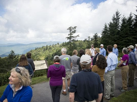 Blue Ridge Parkway Superintendent Mark Woods said one of his proudest moments was witnessing the acquisition of 5,300 acres of protected land for the parkway last year.