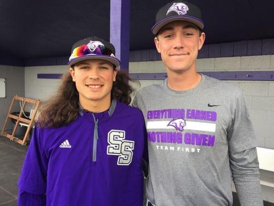 Marlin Brucato,left, and Josh Prizina from Spanish