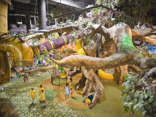 Makutu's Island is a multi-level indoor playground