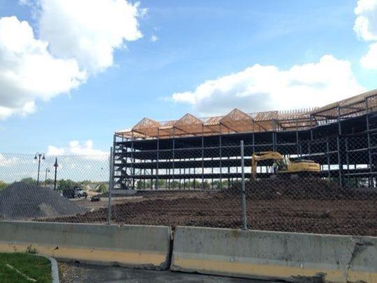 File photo: Progress on the resort in 2015.