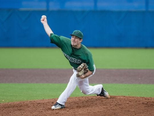 Former Binghamton University pitcher Mike Bunal is 3-0 with a 3.04 ERA for the Boise Hawks.