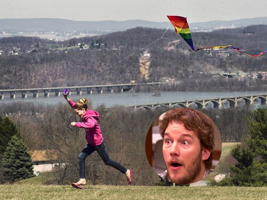 Andy Dwyer is Samuel S. Lewis state park because of kite flying.