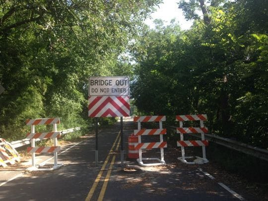 Centerton Road Bridge has been shut down for three