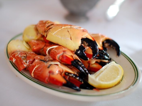 Stone crab is one of the many offerings at Jack's Seafood Shack of Montclair.