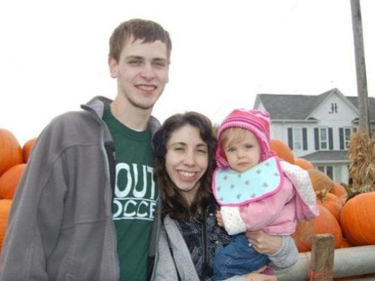 Rockaway Township fatal crash victims Edward Russell Hitt, Briana Mae Anderson and their daughter, Charlotte, 18 months.