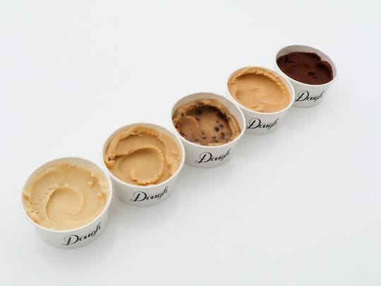 Detroit Dough will have five base flavors, chocolate chip, sugar, brownie, peanut butter and hold my chip.