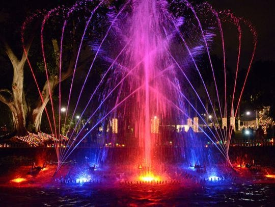The Waltzing Waters water-fountain light show returns