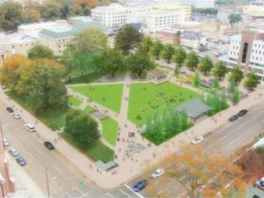 A rendering of Smith Park after all renovations have