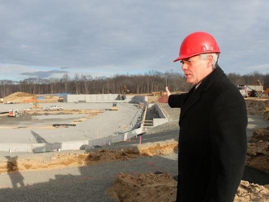 Former Ramapo town Supervisor Christopher St. Lawrence at the town's baseball stadium site