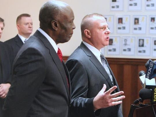 Former Mayor Demeza Delhomme, left, and Spring Valley