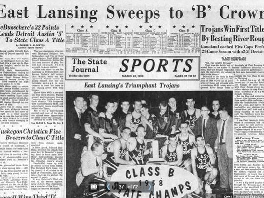 The sports cover of the March 23, 1958 edition of the