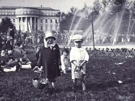An undated photo of the White House Easter Egg Roll.