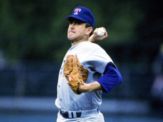 Nolan Ryan threw his seventh and final no-hitter as a member of the Texas Rangers on May 1, 1991.