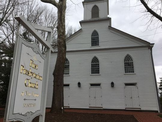 First Presbyterian Church of New Vernon, a recipient of Morris County historic preservation grant.