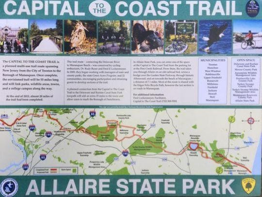 Map of the Capital to the Coast trail.