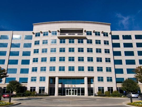 Fortune 500 company, Community Health Systems, headquarters in Franklin.
