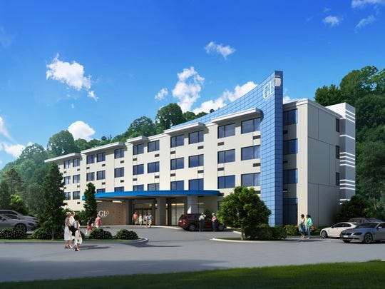 The new Glo Hotel in Haw Creek will have unusual lighting,