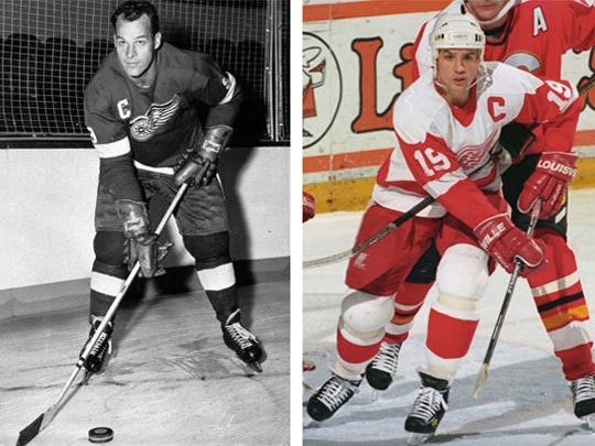 1 Gordy Howe vs. 3 Steve Yzerman