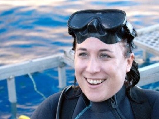"Toby Daly-Engel is an assistant professor of biological sciences at the Florida Institute of Technology.  She is featured predominately as a shark researcher in the Discovery Channel's annual ""Shark Week,"" coverage this week."
