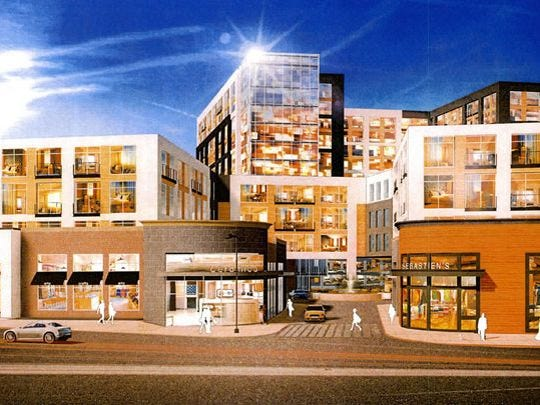 """Rendering of the mixed-use """"The Collection"""" development"""